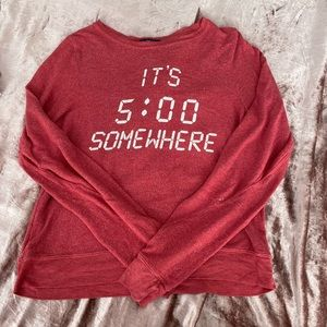 Wildfox Its Five O Clock Somewhere Pullover